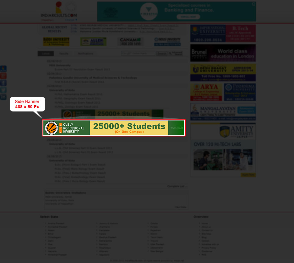 Indiaresults.com :: Advertise With Us